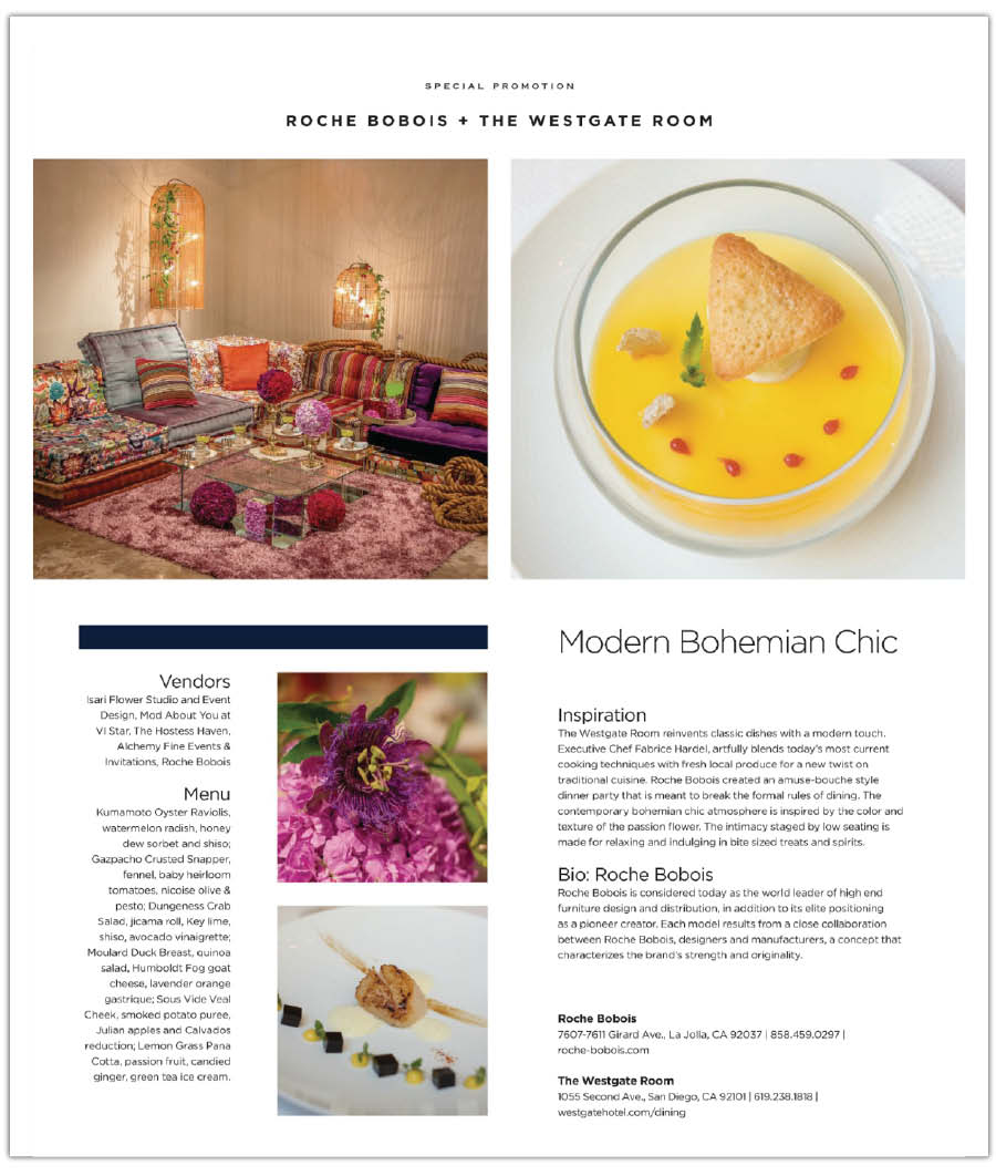 Alchemy Fine Events for Roche Bobois in Rivera Magazine (1)